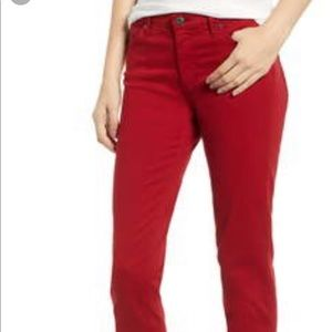 Red AG skinny jeans